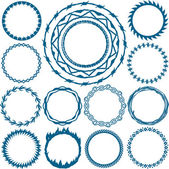 Clip art collection of rings and circle designs