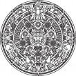 Line art based on the aztec calendar