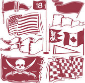 A clip art collection of various flags