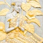 Thailand women murals at wat nah-pramane in ayutth...