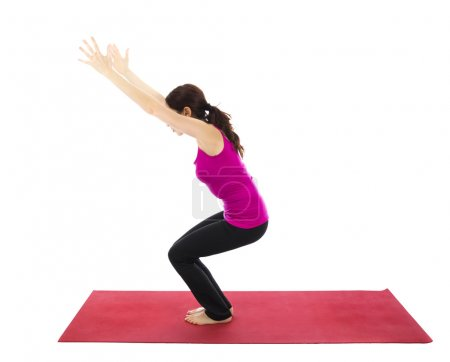 Chair Pose or Powerful Pose in Yoga