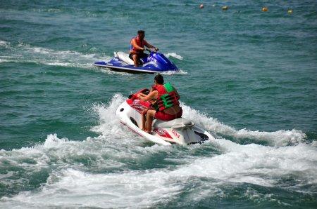 Bangkok, Thailand: Two Jet Ski Boats at Sea
