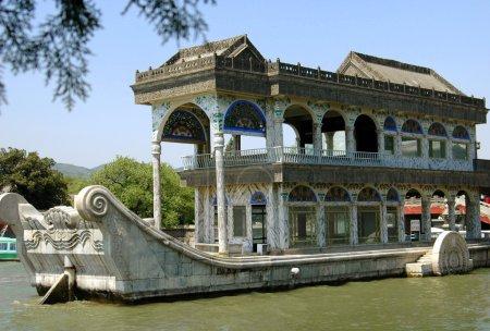 Beijing, China: Marble Boat at Summer Palace