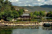 Socha Kuan-jin xia, Čína: u jezera naxi vesnice
