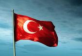 Turecko mávání vlajkami na vítr