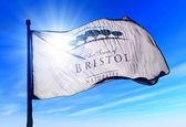 Bristol, Wisconsin (U.S.) flag waving on the wind