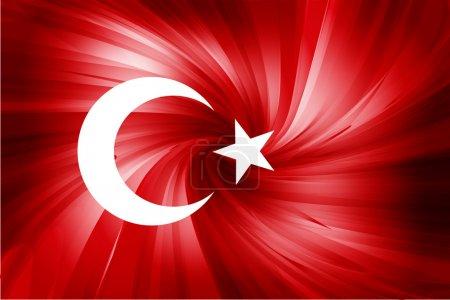 Illustration pour Drapeau turc. Fond abstrait rouge étoiles et la lune - image libre de droit
