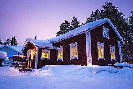 Finnish house in winter
