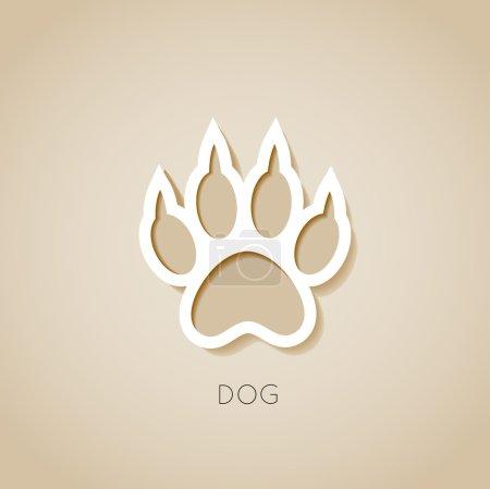 Photo pour Dog paw bannière illustration - image libre de droit
