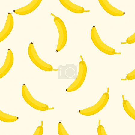 Illustration for Seamless background with yellow bananas Vector illustration - Royalty Free Image