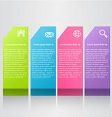 Šablona barevné návrhu moderní infografiky se stínem