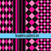 Black and white seamless texture with pink blue Fashion bright diagonal lines checkered Girls Monster party gothic party halloweenSwatches global colors