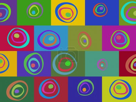 Colored abstract pattern of elements background