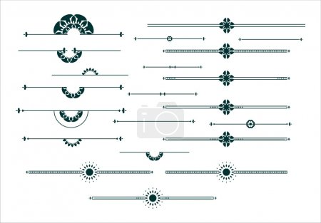 Graphic decorative elements set