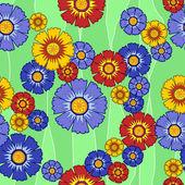 Bezešvé vzor s květinami