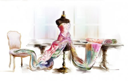 Photo for Dressed table top mannequin - Royalty Free Image