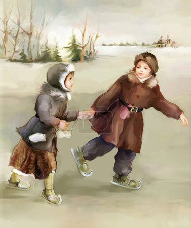 Skating children