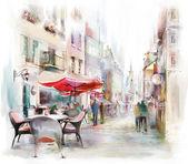 """Постер, картина, фотообои """"Иллюстрированный улица"""""""
