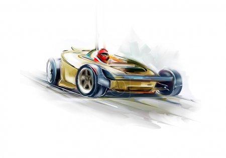Yellow Formula One car