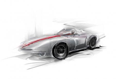 Silver Formula One car