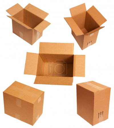 Photo for Packing of carton boxes - Royalty Free Image