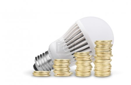Coins and Led Bulb