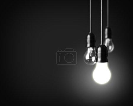Photo pour Concept d'idée sur le noir - image libre de droit
