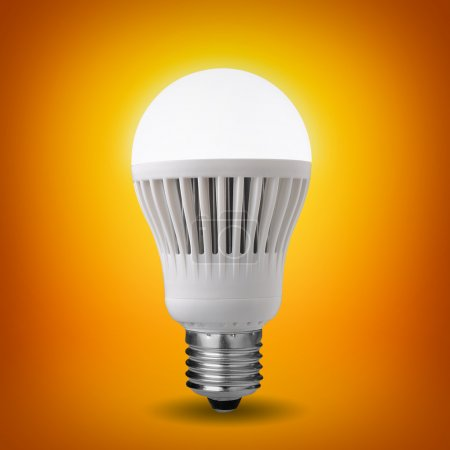 Idea concept with glowing led bulb