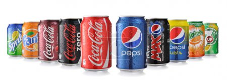 Cocacola And Pepsi Cans