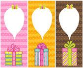 Happy Birthday present gift boxes