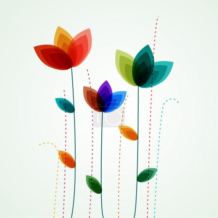 Illustration for Vector flowers - Royalty Free Image