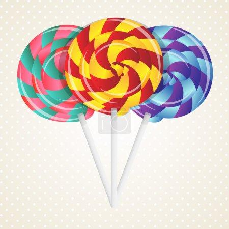 Vector colorful lollipops