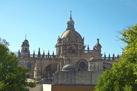 Photo pour Cathédrale de san salvador ville de jerez de la frontera, Espagne, Andalousie - image libre de droit