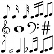 Easy to edit vector illustration of music notes
