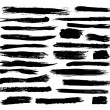 Set of vector grunge brushstrokes. The elements ar...