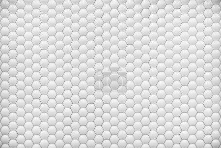 White shiny hexagon bubble tile texture background