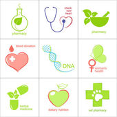 Set of icons for medicine health care and pharmacy