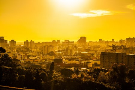 Sunset, urban scene