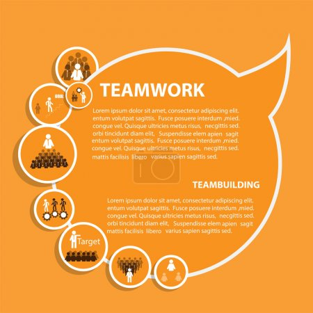 Design of infographic template for teamwork concep...