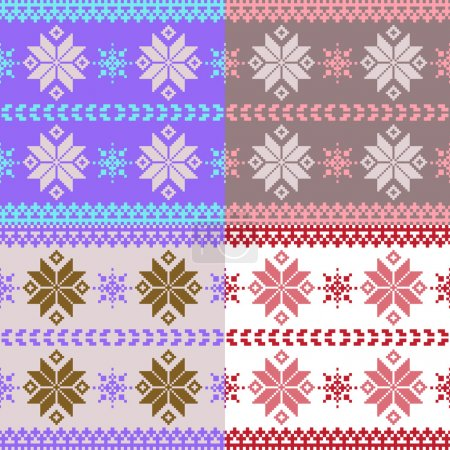 Pastel nordic knitted seamless pattern
