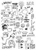 Business doodles Vector Illustration
