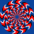 Rotation effect. Abstract background, seamless pattern, with optical illusion effect