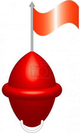 Red buoy. Red beacon for sea, river. Abstract art ...