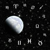 Dvanáct symboly zvěrokruhu po planetě