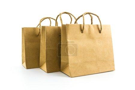 Blank brown paper bag.