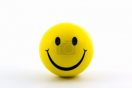 Happy smiley faces yellow ball.