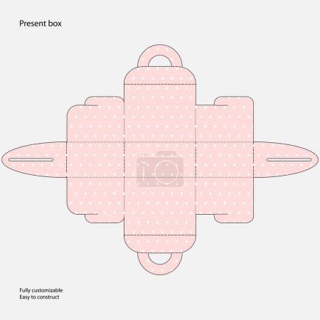 Illustration for Vector template for present box - Royalty Free Image