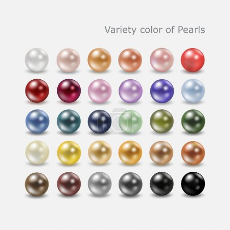 Variety color pearl set