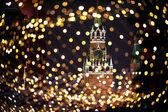 "Постер, картина, фотообои ""Новогодний Москва атмосферу праздника фон"""