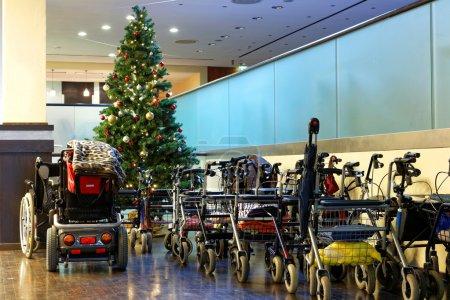 Wheelchair for a Xmas tree